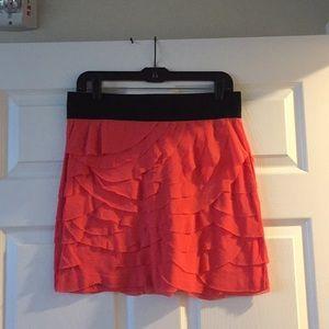 Express coral skirt